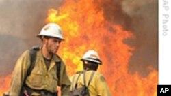洛杉矶大火疑似人为 消防队员取得战绩