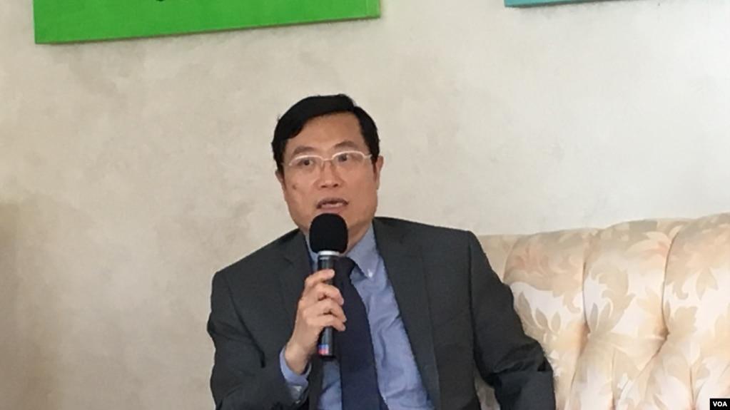 駐美國台北經濟文化代表處經濟組組長陳正祺(美國之音鐘辰芳拍攝)