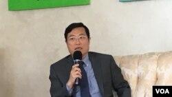 駐美國台北經濟文化代表處經濟組組長陳正祺(美國之音鍾辰芳拍攝)