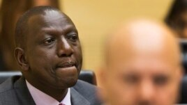 Kenya's Deputy President William Ruto awaits tje start of trial, courtroom of the International Criminal Court. Sept. 10, 2013.