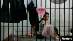 태국 수용소에서 제3국 입국을 위해 대기 중인 탈북 여성. (자료사진)