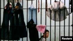 태국 경찰청에서 제3국 입국을 위해 대기하고 있는 탈북 난민. (자료사진)