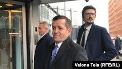 Rustem Mustafa prilikom dolaska u sjedište Specijalnog suda u Hagu, 14. januar 2019.