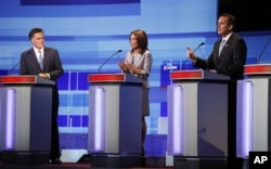 Mitt Romney, Michele Bachmann et Tim Pawlenty