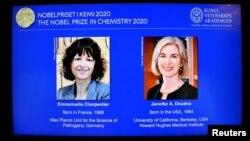 Bà Emmanuelle Charpentier, công dân Pháp và bà Jennifer Doudna, người Mỹ.