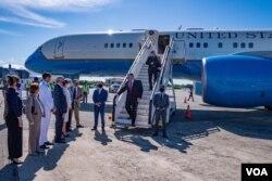 El secretario de Estado de EE.UU. llega a República Dominicana para la toma de posesión del presidente Luis Abidaner.