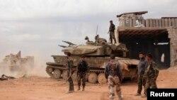 Tentara Suriah berhasil merebut kota Kristen kuno Maalula dari pemberontak anti-pemerintah (foto: dok).