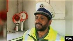 Kabul traffic cop Abdul Saboor Khan