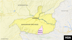 Bản đồ huyện Achin, tỉnh Nangarhar.