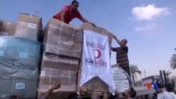 2016-07-05 美國之音視頻新聞: 人道救援車隊開始經由以色列抵達加沙