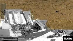 美國太空總署好奇號從火星拍攝的圖片。(美國太空總署資料照片)