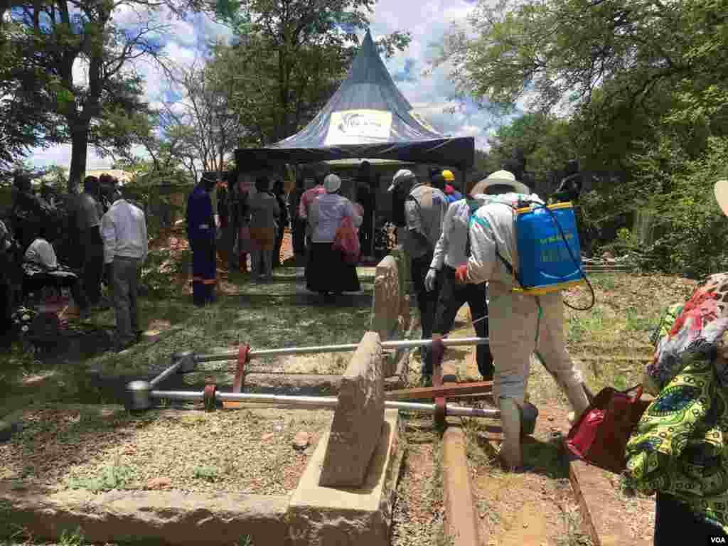 The late Bekezela Maduma Fuzwayo was laid to rest in Gwanda on Monday. (Photo: Albert Ncube)
