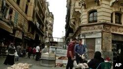 Un quartier en plein Carie, en Egypte, 18 octobre 2016.