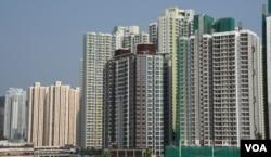 香港特首林郑月娥在上任一周年前夕公布6项房屋政策新措施。(美国之音汤惠芸)