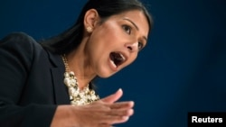 La ministre Priti Patel à Birmingham, en Grande-Bretagne, le 2 octobre 2016.
