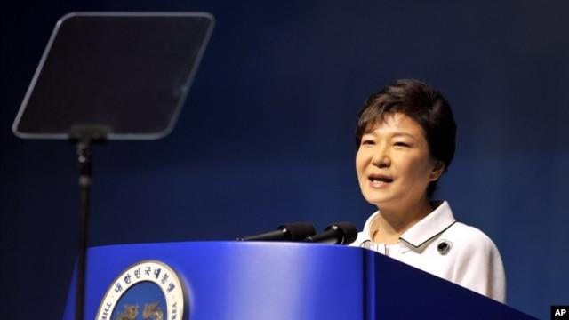 FILE - South Korean President Park Geun-hye.