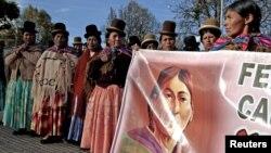 Indigenas bolivianos descienden sobre la capital La Paz, para una nueva ronda de protestas.
