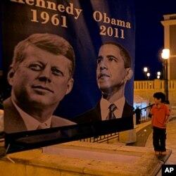 Le président obama visite Porto Rico 50 ans après le président Kennedy