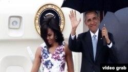 Predsjednik Obama i prva dama Amerike Michelle Obama na putu u Havanu