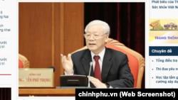 Tổng bí thư-Chủ tịch nước Nguyễn Phú Trọng phát biểu khai mạc Hội nghị Trung ương 10 tại Hà Nội vào ngày 16/5/2019. Ảnh: TTXVN.