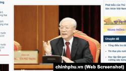 Tổng bí thư-Chủ tịch nước Nguyễn Phú Trọng phát biểu khai mạc Hội nghị Trung ương 10 tại Hà Nội vào ngày 16/5/2019.