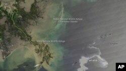 Američka Obalna straža kontrolirano pali naftnu mrlju u Meksičkom zaljevu