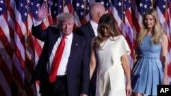 Predsednik Donald Tramp na izbornoj noći