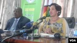 UJustice Priscillah Chigumba lesinye isiphathamandla sekhomishini yeZimbabwe Electoral Commission.