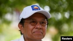FILE - Cambodia's opposition leader and President of the National Rescue Party (CNRP) Kem Sokha in May 2017.