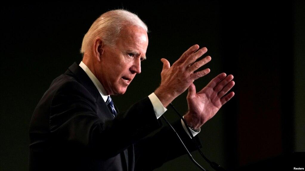 Cựu Tổng thống Joe Biden phát biểu tại Hiệp hội Quốc tế các Nhân viên Cứu hỏa ở Washington, ngày 12/3/2019.