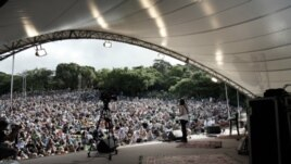 Meister performs at Kirstenbosch, South Africa (Courtesy Natasha Meister)