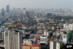FILE: A general view shows building and property developments in Phnom Penh on February 5, 2020.