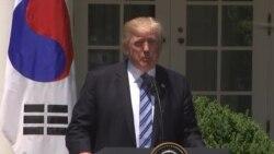 САД повикуваат на дополнителни санкции врз Северна Кореја; Заедничка прес-конференција Трамп-Мун Џе-ин