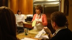 Judy Harris teaches cooking classes in her home in Alexandria, Virginia