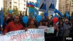 Milli Şuranın prezidentliyə namizədi Cəmil Həsənlinin görüş-mitinqi