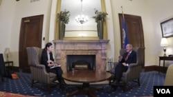 제임스 리시 공화당 상원의원이 VOA 이조은 기자와 인터뷰했다.