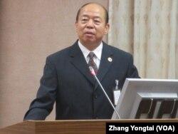 台湾国家安全局长杨国强(美国之音张永泰拍摄)