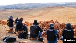 Журналисты на турецко-сирийской границе