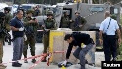 Ізраїльські сили на місці інциденту у Хевроні