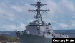 桑普森号驱逐舰成为30多年来访问新西兰的第一艘美国军舰。(美国军方资料照片)