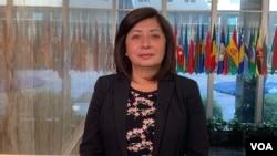 """Flor de María Vega recibió esta semana el premio: """"Mujer de Valor"""" en el Departamento de Estado de Estados Unidos por su labor como Coordinadora Nacional de Fiscales Ambientales de Perú."""