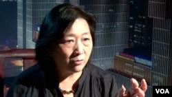 """中国著名记者高瑜曾被迫""""电视认罪""""。(高瑜资料照 美国之音东方拍摄)"""