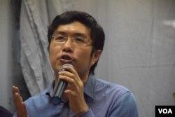 香港民主黨中常委、南區區議員區諾軒。(美國之音湯惠芸)