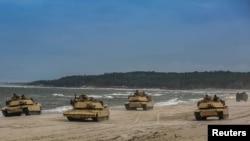 2018年6月12日美軍在波羅的海國家波蘭軍演資料照。