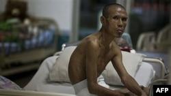 Bệnh nhân nhiễm HIV trong khu cách ly trong bệnh viện Wat Prabat Nampu ở Lopburi, Thái Lan