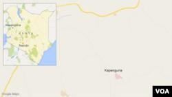 Khu vực Kapenguria, Kenya, nơi xảy ra vụ tấn công.