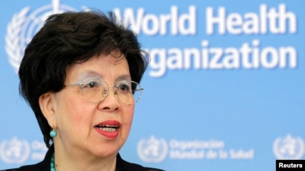 World Health Organization (WHO) Director-General Margaret Chan addresses the media on support to Ebola affected countries, at the WHO headquarters in Geneva September 12, 2014.  REUTERS/Pierre Albouy (SWITZERLAND - Tags: HEALTH POLITICS HEADSHOT) - RTR45X