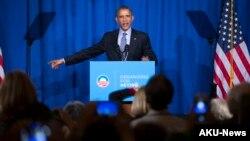 El presidente Barack Obama habla durante un evento del grupo Organizing for Action, en Washington, DC.