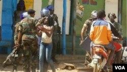 Uma anterior manifestação em Luanda