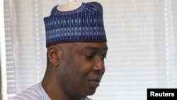 Le président du Sénat nigérian Bukola Saraki